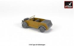VW Type 82 Kubelwagen, resin kit w/ PE parts