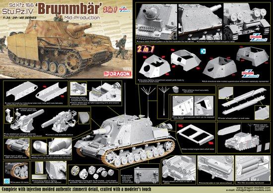 Sd.Kfz.166 Stu.Pz.IV BRUMMBÄR MID-PRODUCTION (2 IN 1)