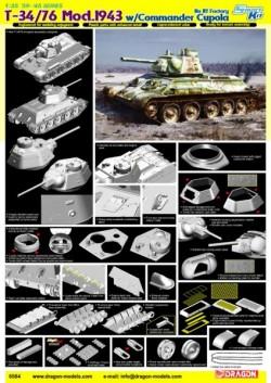 T-34/76 MOD. 1943 w/COMMANDER CUPOLA NO. 112 FACTORY