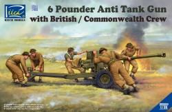 6 Pounder Anti Tank Gun with British Commonwealth Crew