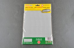 HIPS Zimmerit Plastic Sheet, Molded in gray