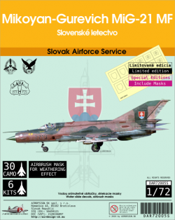Mikoyan-Gurevich MiG-21 MF Slovak Airforce Service, Special Editions