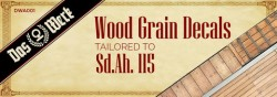 Wood Grain Decals for Sd.Ah.115