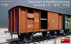 "Railway Covered Goods Wagon 18 t ""NTV""Type"