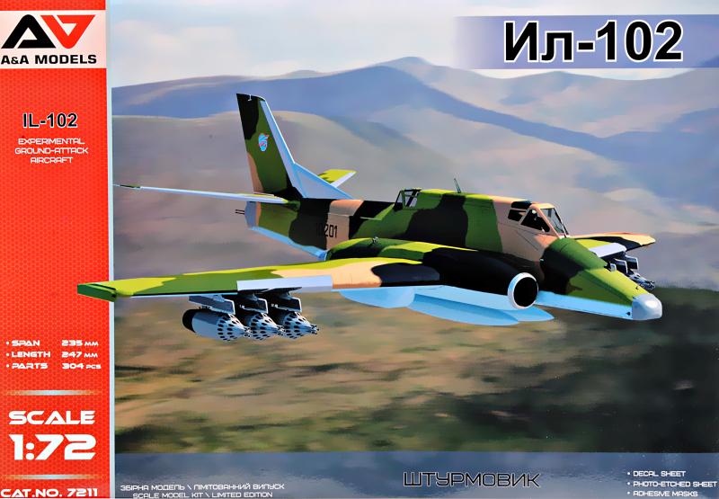 IL 102 Experimental ground-attack aircraft (Sukhoi Su-25 rival)