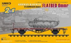 GERMAN RAILWAY FLATBED OMMR (FLACHWAGEN OMMR)