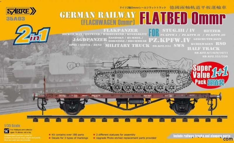 GERMAN RAILWAY FLATBED OMMR (FLACHWAGEN OMMR) VALUE PACK