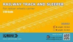 RAILWAY TRACK AND SLEEPER 30,5CM