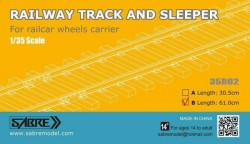 RAILWAY TRACK AND SLEEPER 61CM