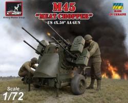 M45 Quadmount, US WWII 4x 12.7mm M2HB Turret on M20 trailer, plastic kit w/ PE parts