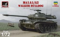 M41A1/A2 Walker Bulldog US post-war Light tank, plastic kit w/ PE parts