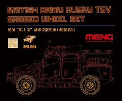 British Army Husky TSV Sagged Wheel Set (Resin)