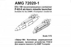 Efir-1M reconnaissance container, P-62-II air-borne missile lancher