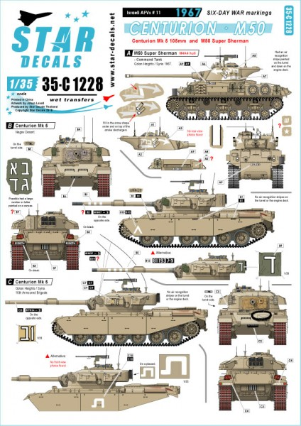 Israeli AFVs # 11. Centurion and M50 Super Sherman