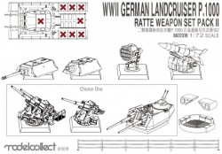 WWII Germany landcruiser p.1000 ratte weapon set pack II