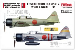 IJN 12-shi Carrier-Based Fighter & Zero Fighter Model 11 (2 kits)