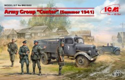 """Army Group """"Center"""" (Summer 1941) (Kfz.1, Typ L3000S, German Infantry (4 figures), 4 drive"""