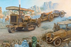 Holt 75 Artillery Tractor w/BL 8-inch Howitzer