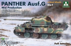 German medium Tank Panther Ausf.G Mid production w/Steel Wheels 2in1