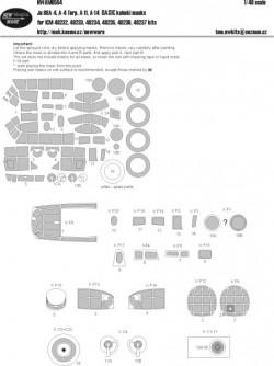Ju 88A-4, A-4 Torp, A-11, A-14 BASIC kabuki masks