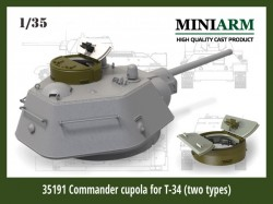 Commander cupola for T-34 (two types: cast/ welded)