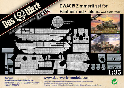 Zimmerit Set for Panther mid/late (DB pattern)