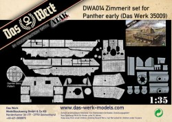 Zimmerit Set for Panther early (DB pattern)