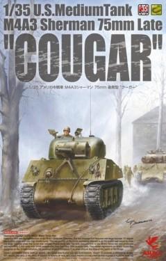 "U.S. Medium Tank M4A3 Sherman 75mm Late ""Cougar"""