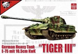 "German WWII E-75 heavy tank ""King tiger III""with 105mm gun"