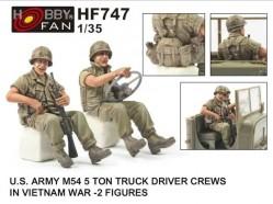U.S. ARMY M54 5Ton TRUCK DRIVER CREWS IN VIETNAM WAR-2 FIGURES