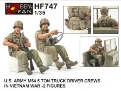 U.S. ARMY M54 5Ton TRUCK DRIVER CREWS IN VIETNAM WAR-2 FIGURES
