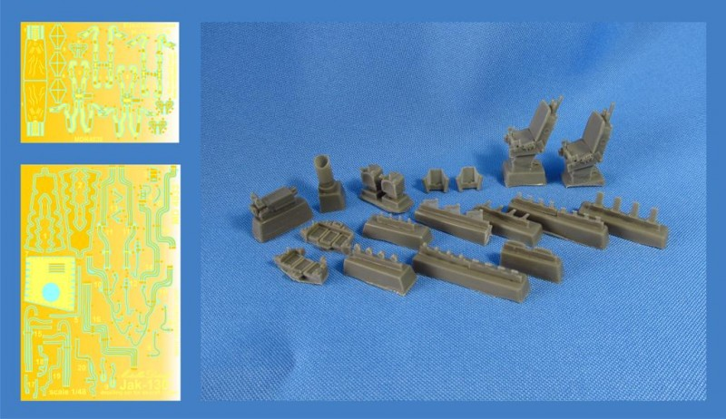 Detailing set for aircraft model Yak-130