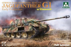 Jagdpanther G1 early production German Tank Destroyer Sd.Kfz.173 w/Zimmerit/full interior