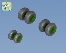 Wheels set for Soviet Russian Helicopter MiL Mi-26 Halo No Mask series