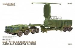 MAZ-74106 air search radar 64N6 BIG BIRD for S-300
