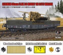 50t SSys Schwerer Plattformwagen + 8,8cm Flak