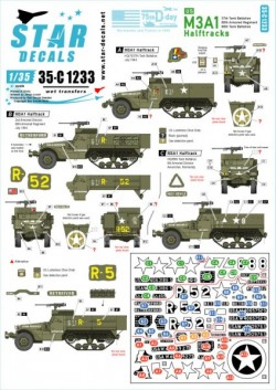 US M3A1 Halftracks. 75th-D-Day-Special. Normandy and France in 1944.