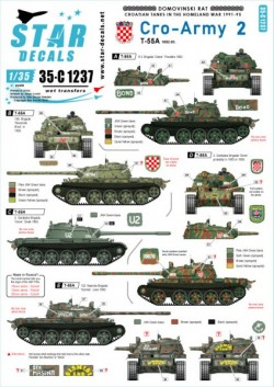 Cro-Army # 2. Croatian T-55 tanks 1992-93