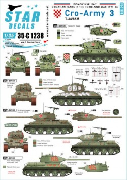 Cro-Army # 3. Croatian T-34/85 tanks.