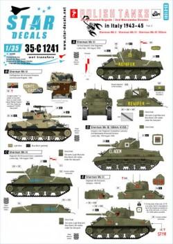 Polish Tanks in Italy 1943-45 # 2. Sherman Mk II, Mk III and Mk IB(105mm).
