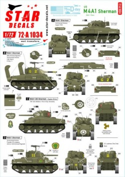 US M4A1 Sherman. 75th-D-Day-Special.Normandy and France in 1944.