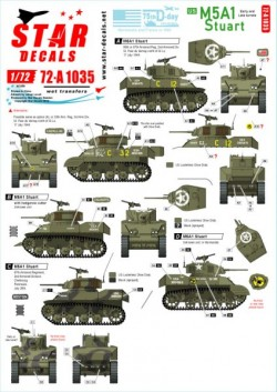 US M5A1 Stuart. 75th-D-Day-Special.Normandy and France in 1944