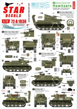 US S.P. Howitzers. M7 Priest, M8 HMC and M4 (105mm). 75th-D-Day-Special.