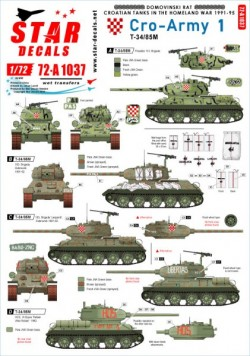 Cro-Army # 1. Croatian T-34/85 tanks 1991-95.