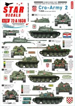 Cro-Army # 2. Croatian T-55 tanks 1991-92.