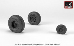 AH-64 Apache wheels w/ weighted tires, smooth hubs