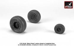 UH-60 Black Hawk wheels w/ weighted tires