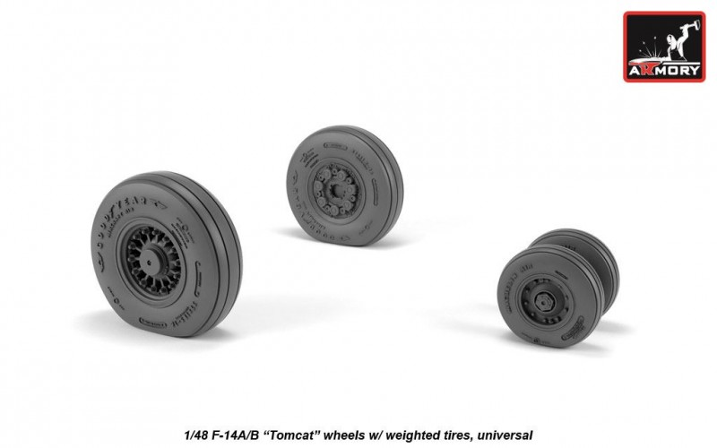 F-14 Tomcat early type wheels w/ weighted tires