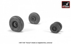 F-14 Tomcat late type wheels w/ weighted tires