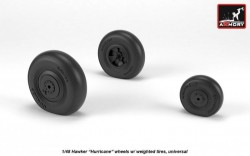 Hawker Hurricane wheels w/ weighted tires